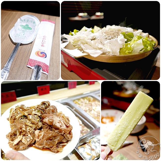 韓式銅盤烤肉【台北車站/吃到飽】,多款小菜、熟食、湯品無限供應,來支哈密瓜冰棒做完美結尾。 @章魚娜娜 ∞ 玩味生活